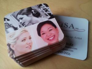 Silk Square Business Cards